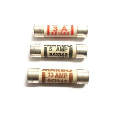 Household Fuses 3 Amp 5 Amp 13 Amp Domestic Mixed Cartridge Fuse Mains Plug