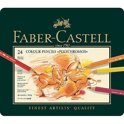 Faber-Castell - Polychromos Colour Pencils - Tin of 24