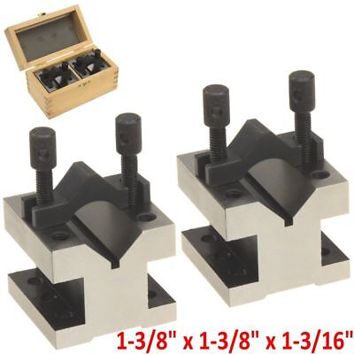 2 pc V-Block Reversible Clamp Bar Double Sided 90° Precision Hardened 1-3/8""