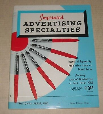 pre 1964 NATIONAL PRESS NO CHICAGO IL IMPRINTED ADVERTISING SPECIALTIES CATALOG