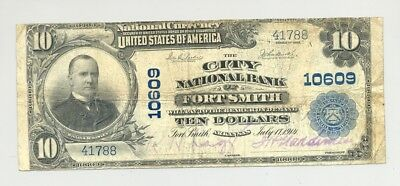 1902 $10 National Banknote from Fort Smith, Arkansas no reserve