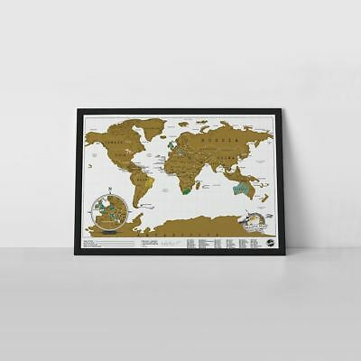 Luckies World Scratch Map Poster Travel Scratch Map Edition Tubed
