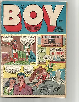 Boy Comics #38  Feb.1948  GDVG 3.0  suicide cover