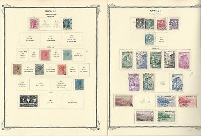 Monaco Collection 1885-1965 on Scott Specialty Pages, Around 100 Pages
