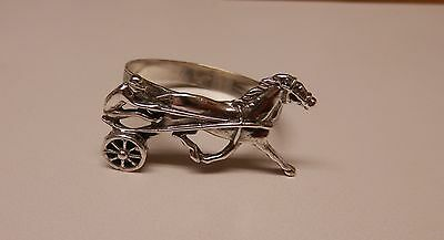 Napkin Ring Horse & Buggy Sterling Silver