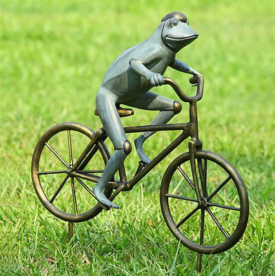 Frog on Bicycle Garden Statue Sculpture Figurine Yard Decor by SPI Home 33810