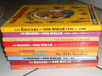 Lot Of 9  Oor Wullie And Broons Specials , Hbs  All Great Condition .