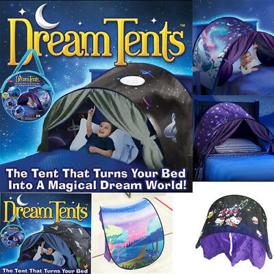 DreamTents Kids Pop Up Bed Tent Playhouse - Dream Tents Winter Wonderland