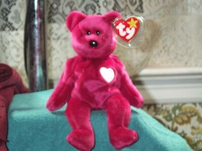 TY Beanie Baby babies bear Valentina Valentines Day 2-14-1998 retired mint tags