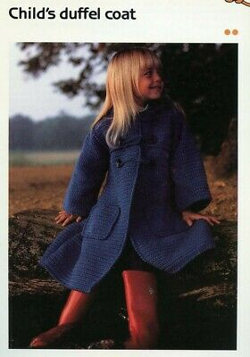 Child/'s Bathrobe Cavendish Crochet Pattern//Instructions Leaflet NEW