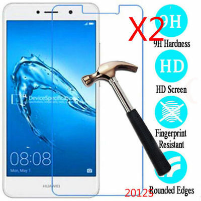 1/2Pcs 9H+Premium Tempered Glass Screen Protector For Huawei Y3 Y5 Y6 Y7 2017 FA