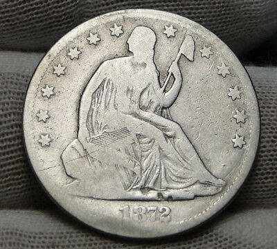 1872CC Seated Liberty Half Dollar 50C -  Key Date, 257,000 Minted (6663)