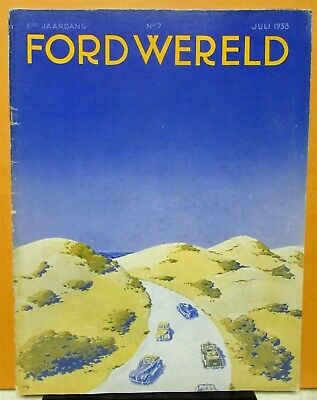 1938 Ford Wereld World Dutch Text Foreign Mkt Mag No 7 Car Truck Fordson Tractor