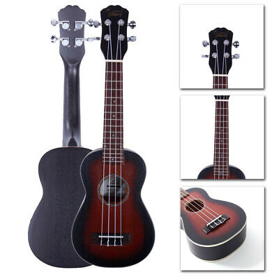 "New Glarry 21"" Sapele Soprano Ukulele Uke 15 Frets Musical Instrument 4 Strings"