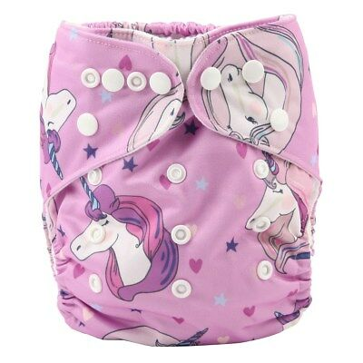 2017 new Baby Pocket Cloth Diaper Nappy Reusable Washable For Girls Unicorn
