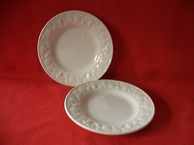 "2 X Bhs British Home Stores ~~  Lincoln  ~~  7"" Tea / Side Plate"