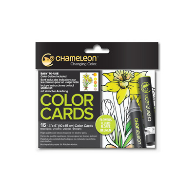 Chameleon Color Cards - Flowers - With Shading & Colouring Guides