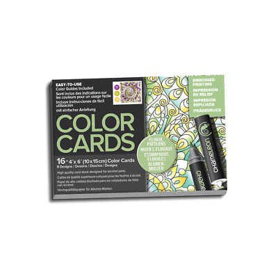 Chameleon Embossed Color Cards - Floral Patterns - Shading & Colouring Guides