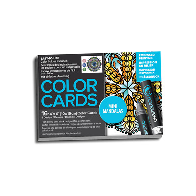 Chameleon Embossed Color Cards - Mini Mandalas - Shading & Colouring Guides