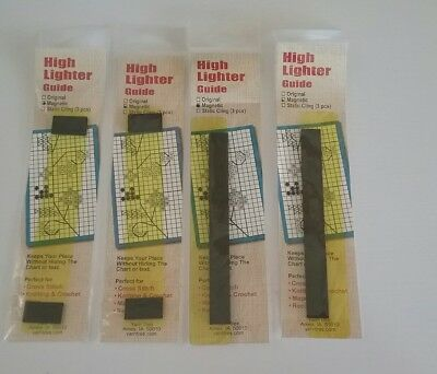4 Magnetic Highlighter Guides For Crochet, Knitting, Cross Stitch And Many Craft