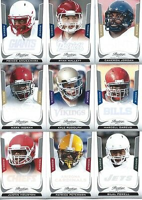 2011 Prestige Football Rookie Cards Pick The Ones You Want