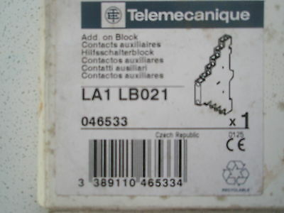 Telemecanique Auxiliary Contact Block LA1 LB021  FOR INTEGRAL 18 CONTACTORS
