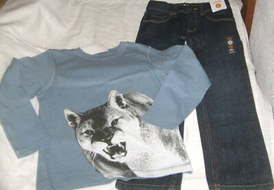 NWT Boys 6 GYMBOREE 2 Pc Outfit Jeans & Long Sleeve Top NEW