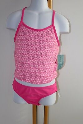 65d2bde8f8a1 NWT OLD NAVY Girls 6-7   10-12 One-Piece Swimsuit PINK GEOMETRIC ...