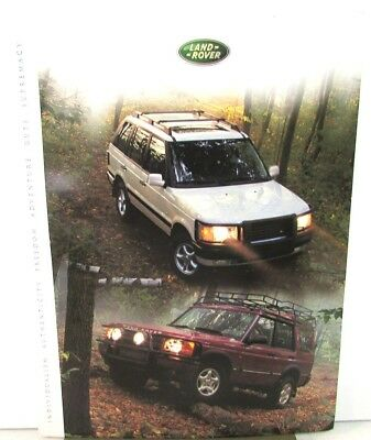2001 Land Rover Press Kit Range Rover 4.6 SE HSE Discovery Series II SD LE SE