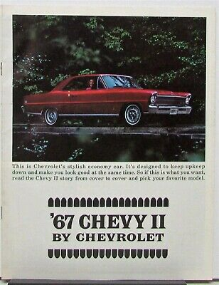 1967 Chevrolet Chevy II & Sport & Nova & Sedan & Wagon Sales Brochure Original