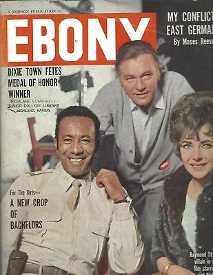 Ebony Magazine Jun 1967 Actors  Raymond St. Jacques, Liz Taylor & Richard Burton