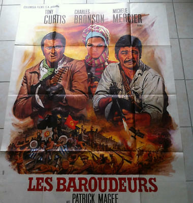 AFFICHE DE CINEMA LES BAROUDEURS 1970 Tony Curtis Charles Bronson Patrick Magee
