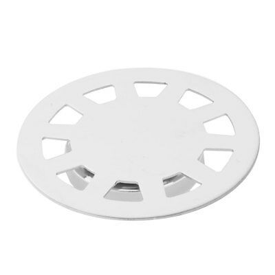 Bathroom Stainless Steel Round Water Hair Filter Floor Drain Cover Silver Tone
