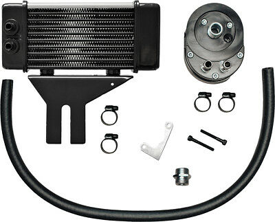 JAGG LOWMOUNT 10-ROW OIL COOLER SYSTEM (CHROME) 750-2580 MC Harley-Davidson