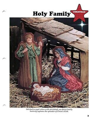 Holy Family Nativity Creche Christmas Plastic Canvas PATTERN//INSTRUCTIONS NEW