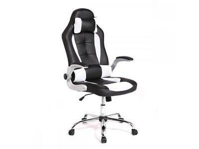 New White High Back Racing Car Style Bucket Seat Office Desk Chair Gaming Chair