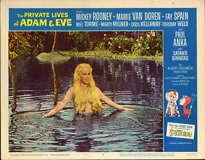 THE PRIVATE LIVES OF ADAM AND EVE orig lobby card movie poster MAMIE VAN DOREN