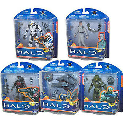 """HALO - 10th Anniversary 5"""" Series 2 Action Figure Case (8) #NEW"""
