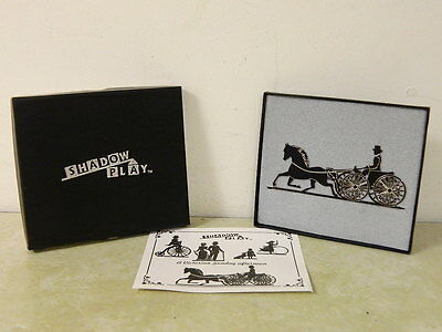 Shelia's 1996 Horse & Carriage Shadow Play Victorian Shelf Sitter New In Box
