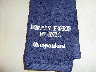 Free personalizing Custom mach embroidered Betty Ford Clinic Bowling Towel COOL!