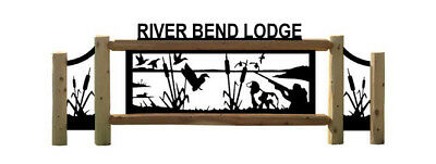 Personalized Duck Cedar Log Sign - Dogs - Waterfowl Hunting - Wood Signs