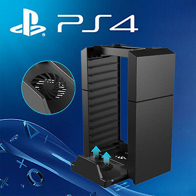Vertical Console Stand Disk Storage Kit Charging Dock for PS4 Pro /Slim /XboxOne