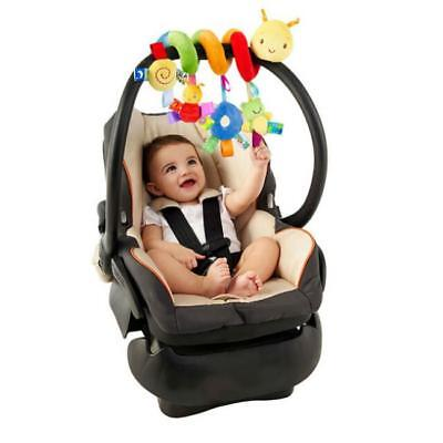 Baby Spiral Stroller Car Seat Travel Lathe Hanging Activity Toys Rattles Toy BS