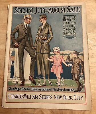Charles Williams Stores NYC July/August 1918 Vintage Original Clothing Catalog