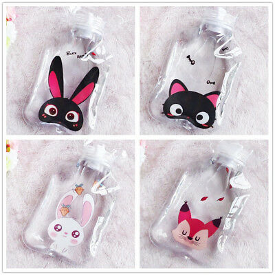 Home Clear PVC Rubber Hot Water Bottle Bag Warm Relaxing Heat Therapy Cute