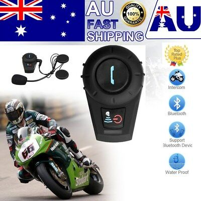 500M BT Bluetooth Interphone Motorcycle Motorbike Helmet Intercom Stereo Headset