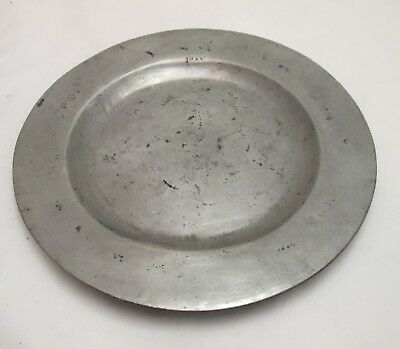 A Good 18thC Antique Pewter Side Plate - Touchmarks