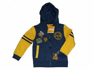 bnwt official merchandise jcb joey zipped hoodie jumper sweat shirt 18-14 months