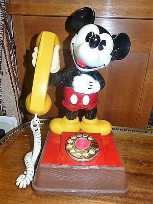 Vintage Mickey Mouse Dial Telephone Collectable 1960's