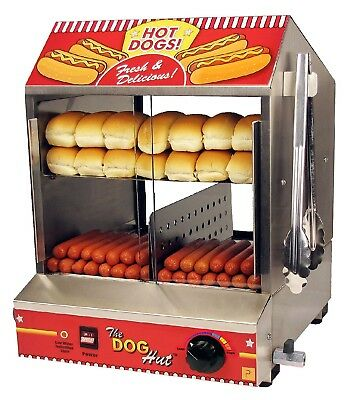 Paragon 8020 Dog Hut Hot Dog Steamer Heavy Duty Stainless Steel Construction